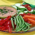 Roasted Red Pepper Hummus and Crudite (Rachael Ray) recipe