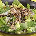 Romaine Salad with Red Onions, Walnuts and Orange Vinaigrette (Rachael Ray) recipe