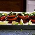 Spicy Tomato Napoleons with Black Beans (Aaron McCargo, Jr.) recipe