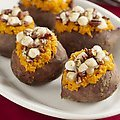Stuffed Sweet Potatoes with Pecan and Marshmallow Streusel (Tyler Florence) recipe