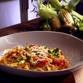 Tagliatelle with Corn and Cherry Tomatoes (Anne Burrell) recipe