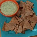 White Bean and Cilantro Dip with Toasted Pita Chips (Sunny Anderson) recipe