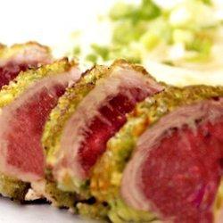 Wasabi Pea Crusted Tuna recipe