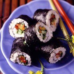 Oriental Vegetable Sushi Rolls recipe