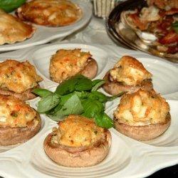 Crab N Lobster Stuffed Mushroom Caps recipe