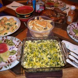 Spinach And Artichoke Dip With Homemade Pita Chips recipe