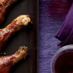 Chicken Drumsticks With Asian Barbecue Sauce recipe