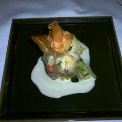 Salmon Puffs With Beurre Blanc recipe