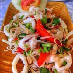 Yam Pla Muek Spicy Squid Salad recipe