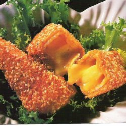 Fried Camembert With Mango Liqueur Sauce recipe
