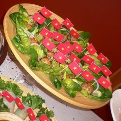 Vietnamese Chicken Meatballs In Gem Lettuce Wraps recipe
