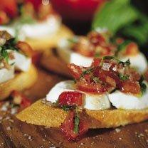 Fresh Mozzarella And Tomato Crostini recipe