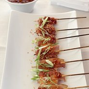 Wrapped Shrimp With Asian Barbecue Sauce recipe