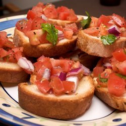 Tomato And Olive Bruschetta recipe