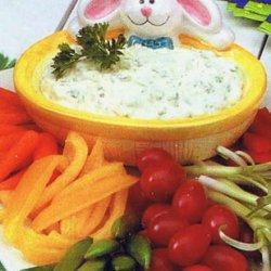 Creamy Parsley Veggie Dip recipe