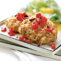 Crab Cakes With Red Pepper Relish recipe