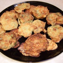 Honey Mustard Fried Green Tomatoes And Fritters recipe