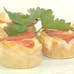 Bacon And Egg Filo Pies recipe