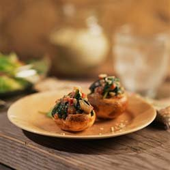 Spinach And Goat Cheese Stuffed Shrooms recipe