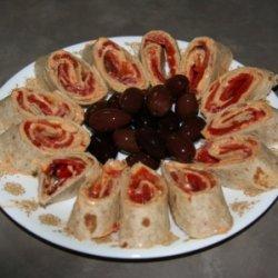 Red Pepper Hummus Rollups recipe