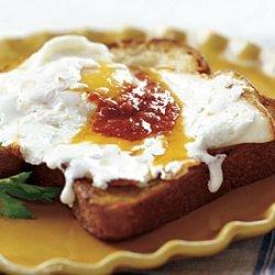 Olive Oil Fried Eggs with Mozzarella and Harissa recipe