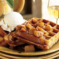 Spiced Waffles with Caramelized Apples recipe