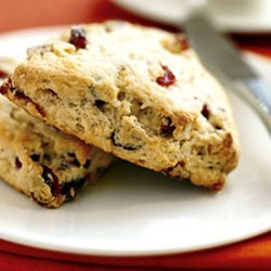Dried Cranberry, Walnut, and Lemon Scones recipe