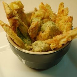 Simple Fried Squash Blossoms recipe