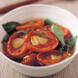 Slow Roast Tomatoes With Garlicbasil And Thyme recipe