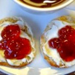 Berry Cheesecake English Muffins recipe