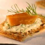 Smoked Trout Crackers With Lemon-dill Mayo recipe