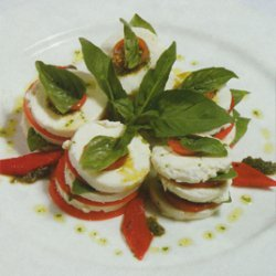 Cheese With Tomatoes And Basil recipe