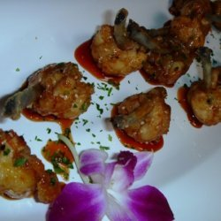 Fried Chicken Lollypops With Guava Barbeque Sauce recipe