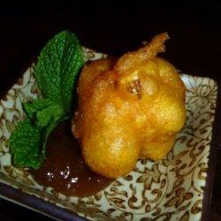 Curried Cauliflower Fritters With Mango Chutney recipe