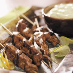 Chicken Skewers With Avocado Sauce recipe