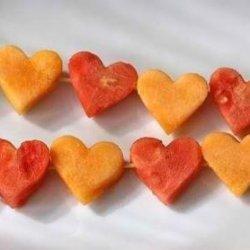 Heart Shaped Fruit On A Skewer recipe