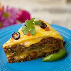 Layered Mexican Tortilla Pie recipe