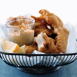 Beer Battered Fish With Smoked Paprika Mayonnaise recipe