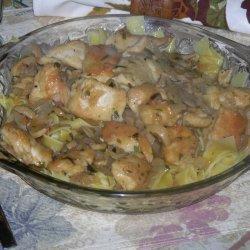 Spicy Tarragon Chicken In Wine Sauce recipe