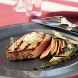 Seared Tuna Steaks With Wasabi-green Onion Mayonna... recipe