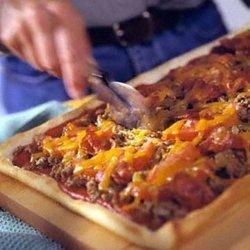 Bacon Cheeseburger Pizza recipe