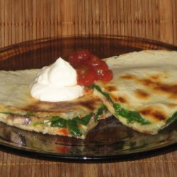 Nothing To It Spinach And Mushroom Quesadillas-ci recipe