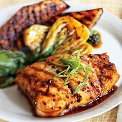 Grilled Halibut With Eggplant And Baby Bok Choy An... recipe
