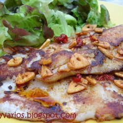 Grilled Fish With Cayenne And Garlic Sauce recipe