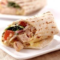 Grilled Teriyaki Tuna Wraps recipe