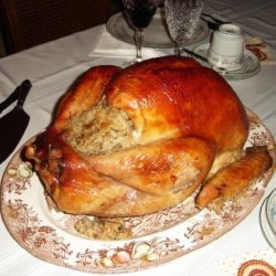 Roasted Whole Turkey With Gravy And My Mothers Stu... recipe