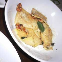 Butternut Squash Ravioli With Sage Butter And Waln... recipe