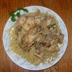 Chicken With Mustard Mascarpone Marsala Sauce recipe
