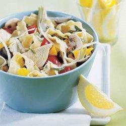 Tuna Pasta With Lemon Dressing recipe