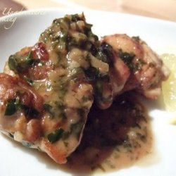 Chicken Thighs With Herbs White Wine And Lemon recipe
